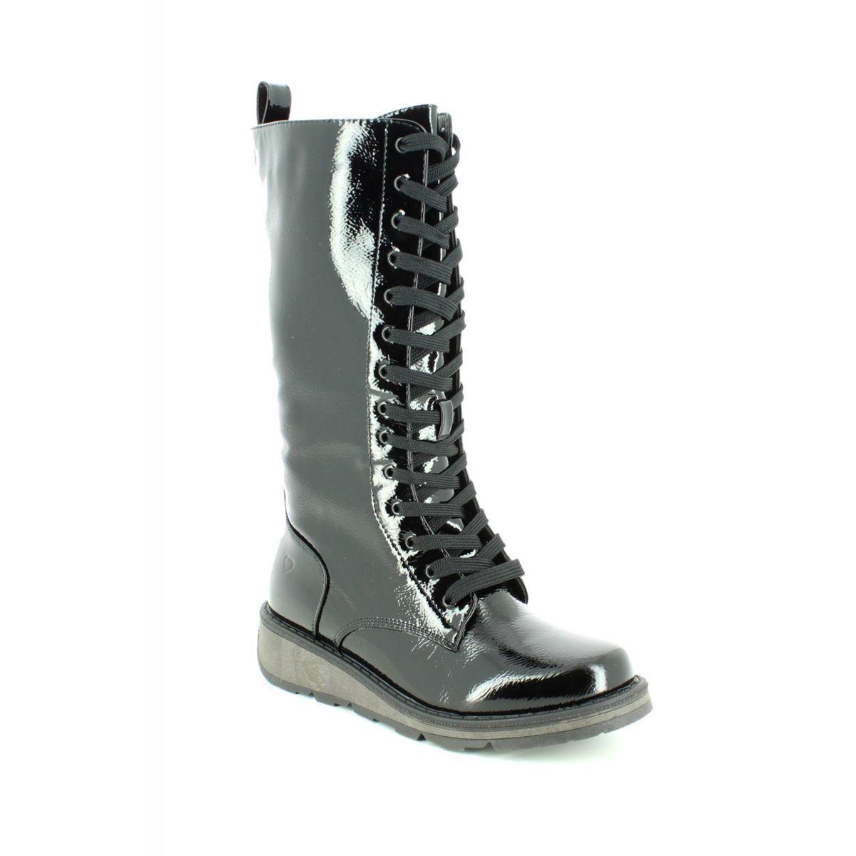 2a36033c Heavenly Feet Knee-high Boots - Black patent - 8521/40 MAZE