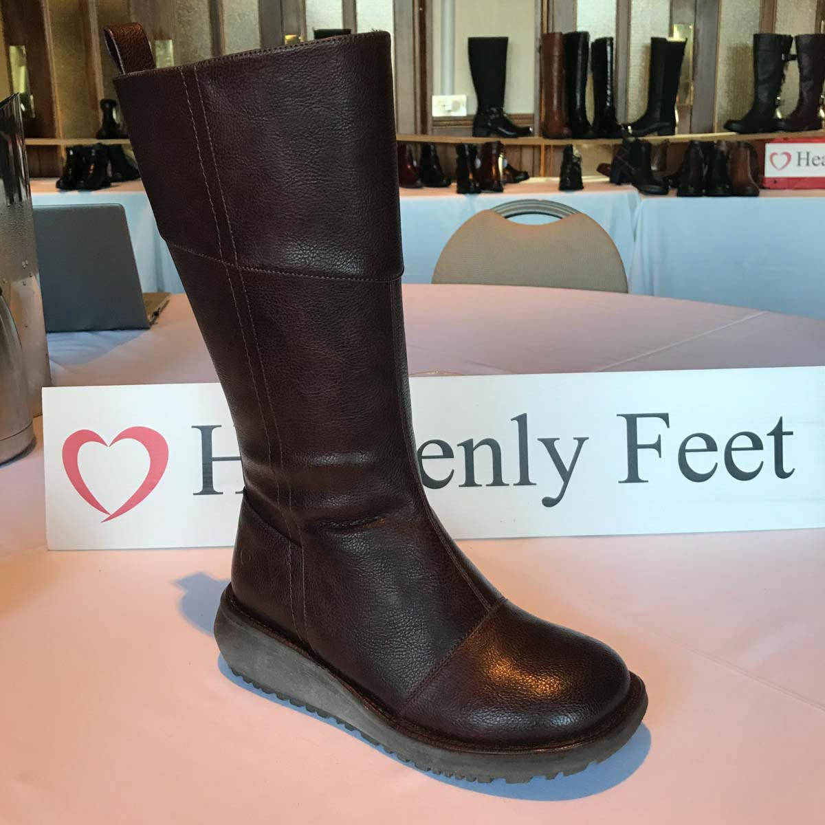 3dceb220 Heavenly Feet Knee-high Boots - Chocolate brown - 9532/20 ROBYN