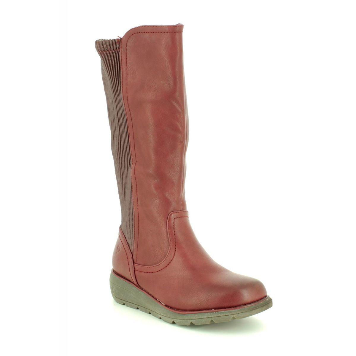 c1c8c49b Heavenly Feet Knee-high Boots - Red - 8524/80 URSULA 2