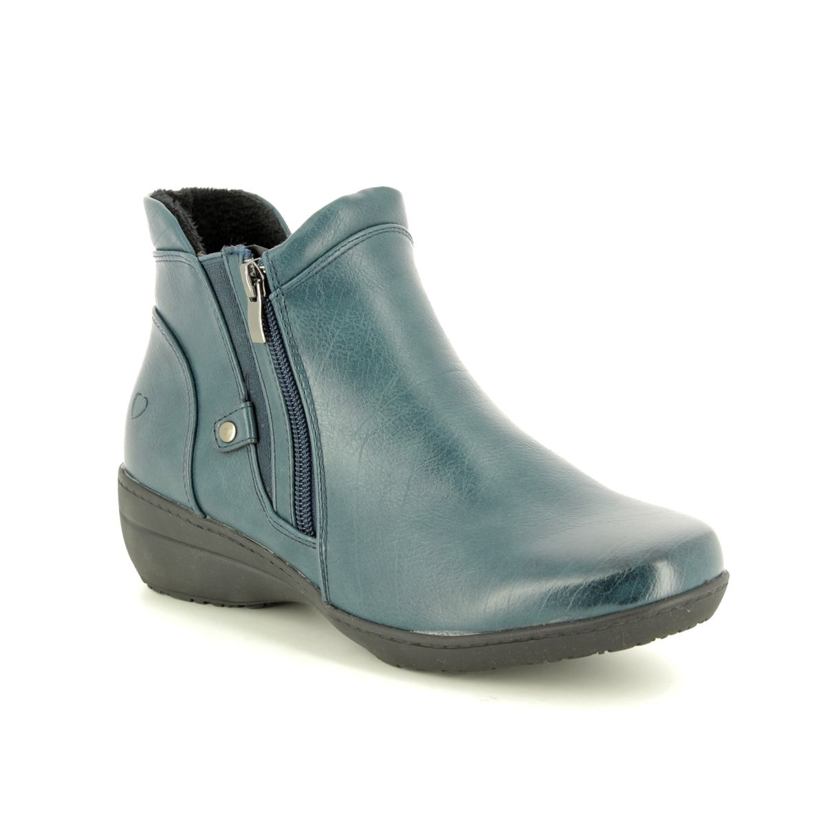 Heavenly Feet Alania Womens Ladies Ankle Boots Grey UK Size