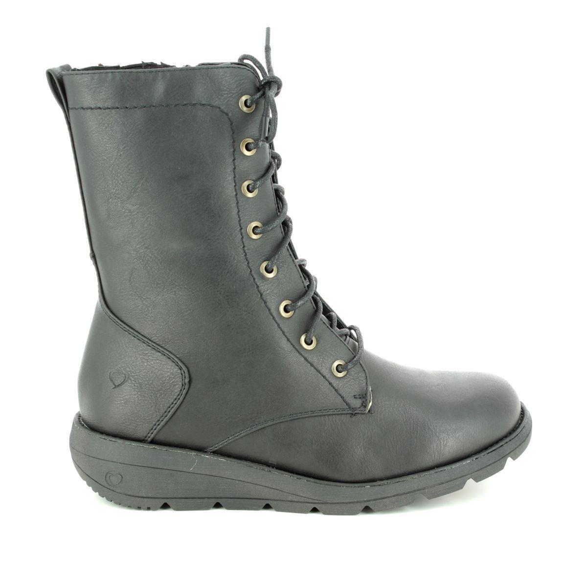 b9d8e46ff7e9 Heavenly Feet Ankle Boots - Black - 8516 30 WALKER 2
