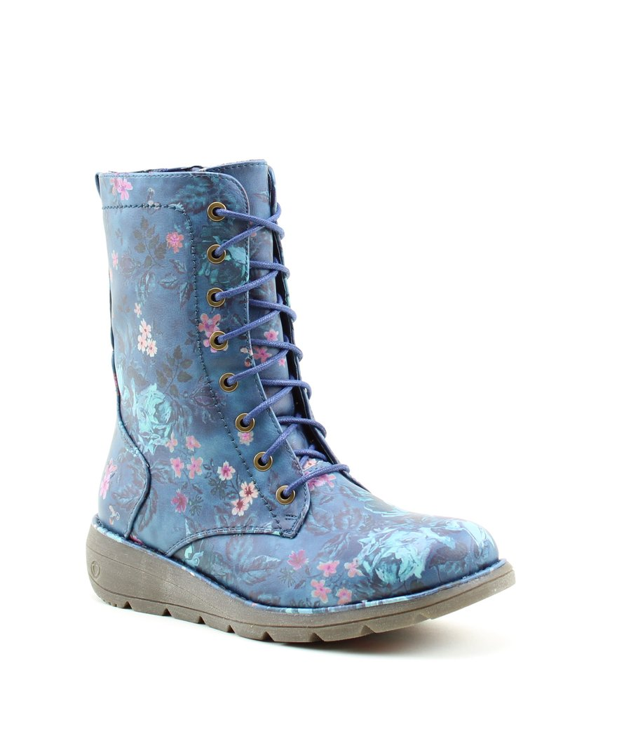 64a3888b Heavenly Feet Ankle Boots - Navy Floral - 8516/70 WALKER 2