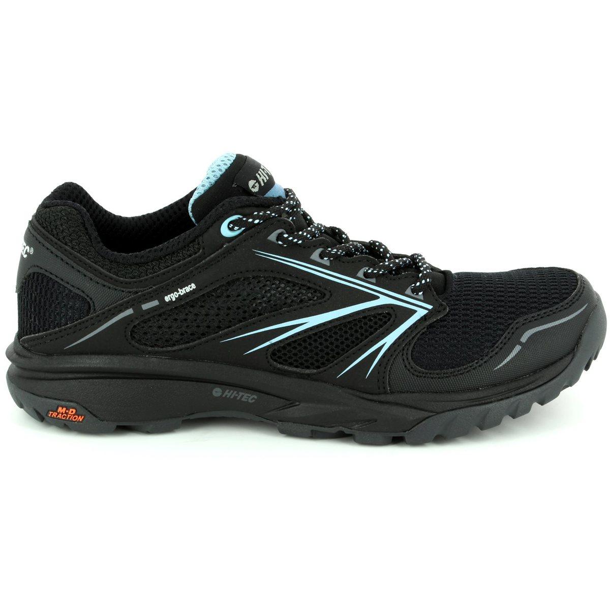 hi tec speed 6254 21 black multi lacing shoes