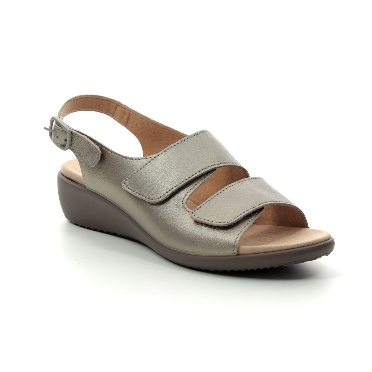 d3dc318c Hotter Sandals - Pewter - 9103/51 ELBA E FIT