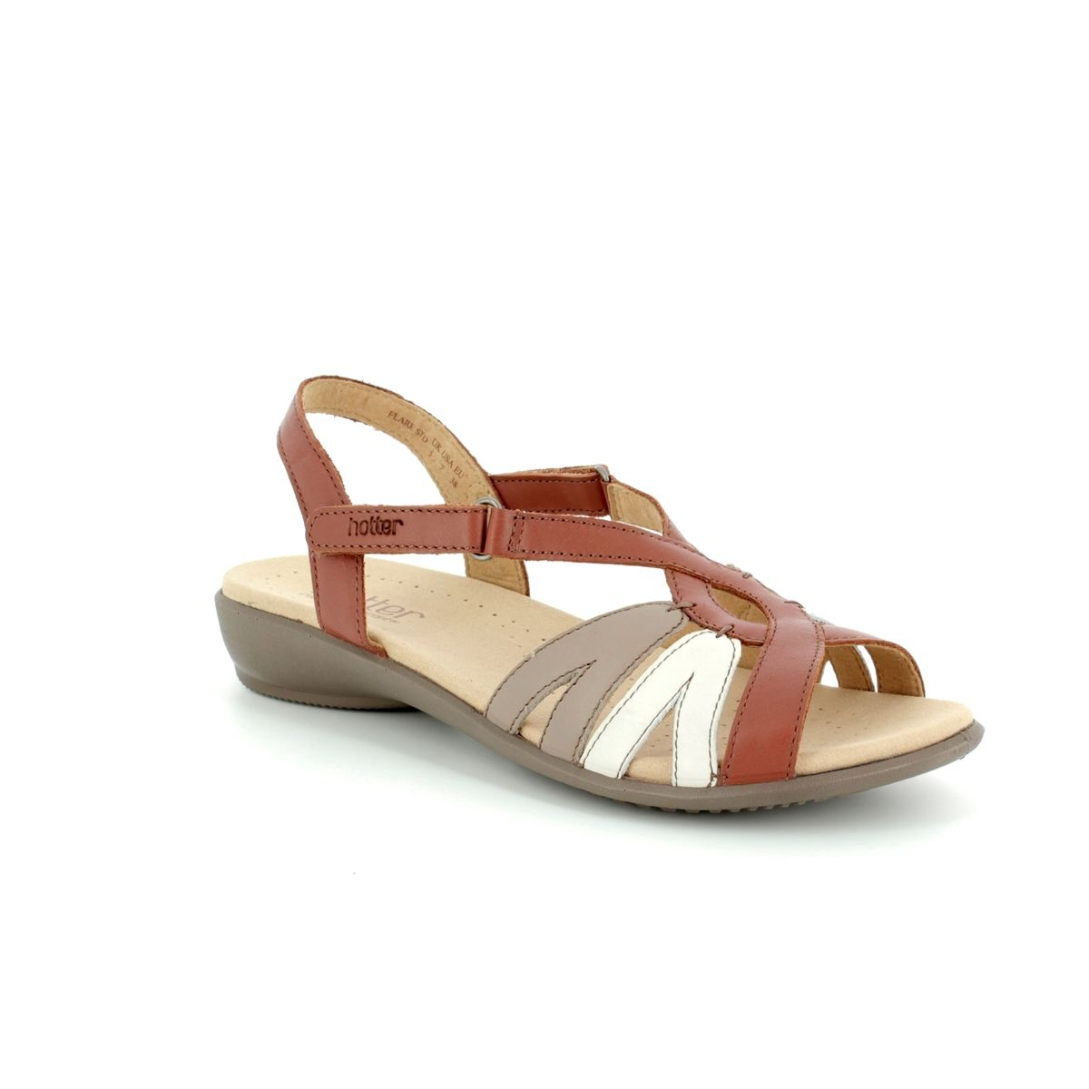 85c6aa30fa7 Hotter Sandals - Tan multi - 8107 11 FLARE E FIT