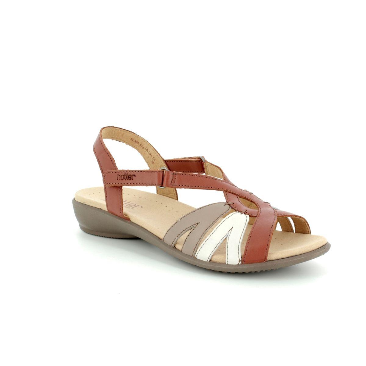 85c6aa30fa7 Hotter Sandals - Tan multi - 8107 11 FLARE E FIT