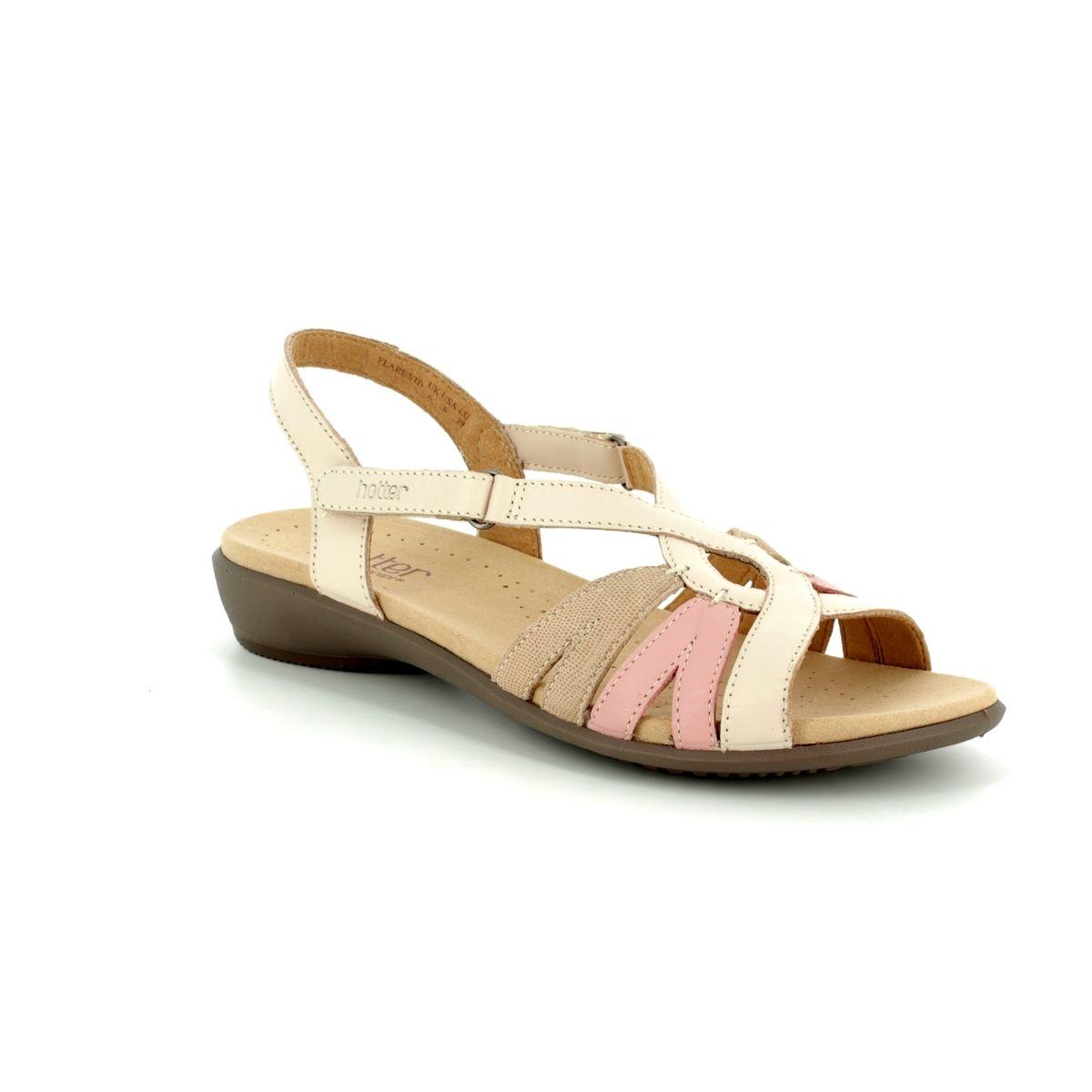 4b4c9b09b92 Hotter Sandals - Beige multi - 8107 50 FLARE E FIT
