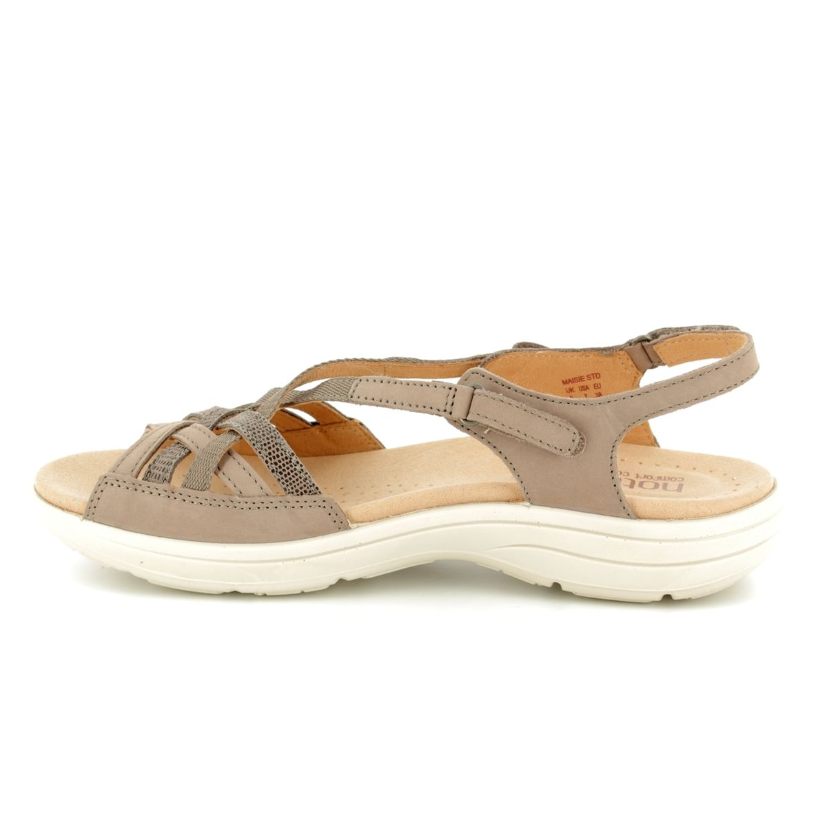 Hotter Sandals Taupe Nubuck 8109 53 Maisie E Fit