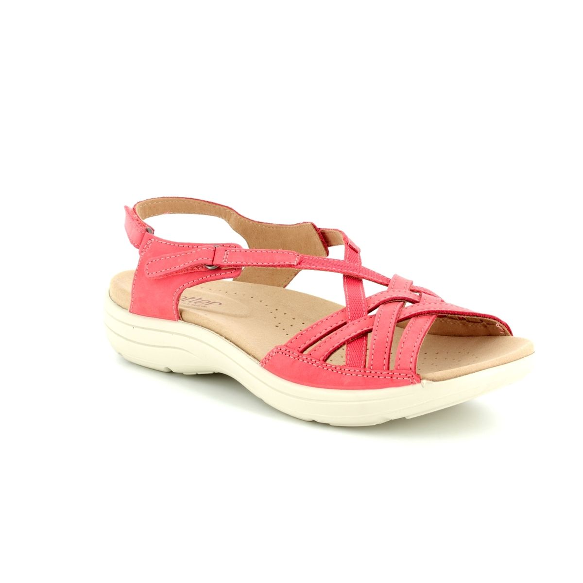 63259009 Hotter Maisie E Fit 8109-80 Coral pink sandals
