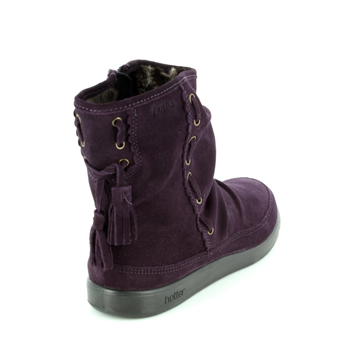 6fa1dacae Hotter Ankle Boots - Purple suede - 7204/90 PIXIE