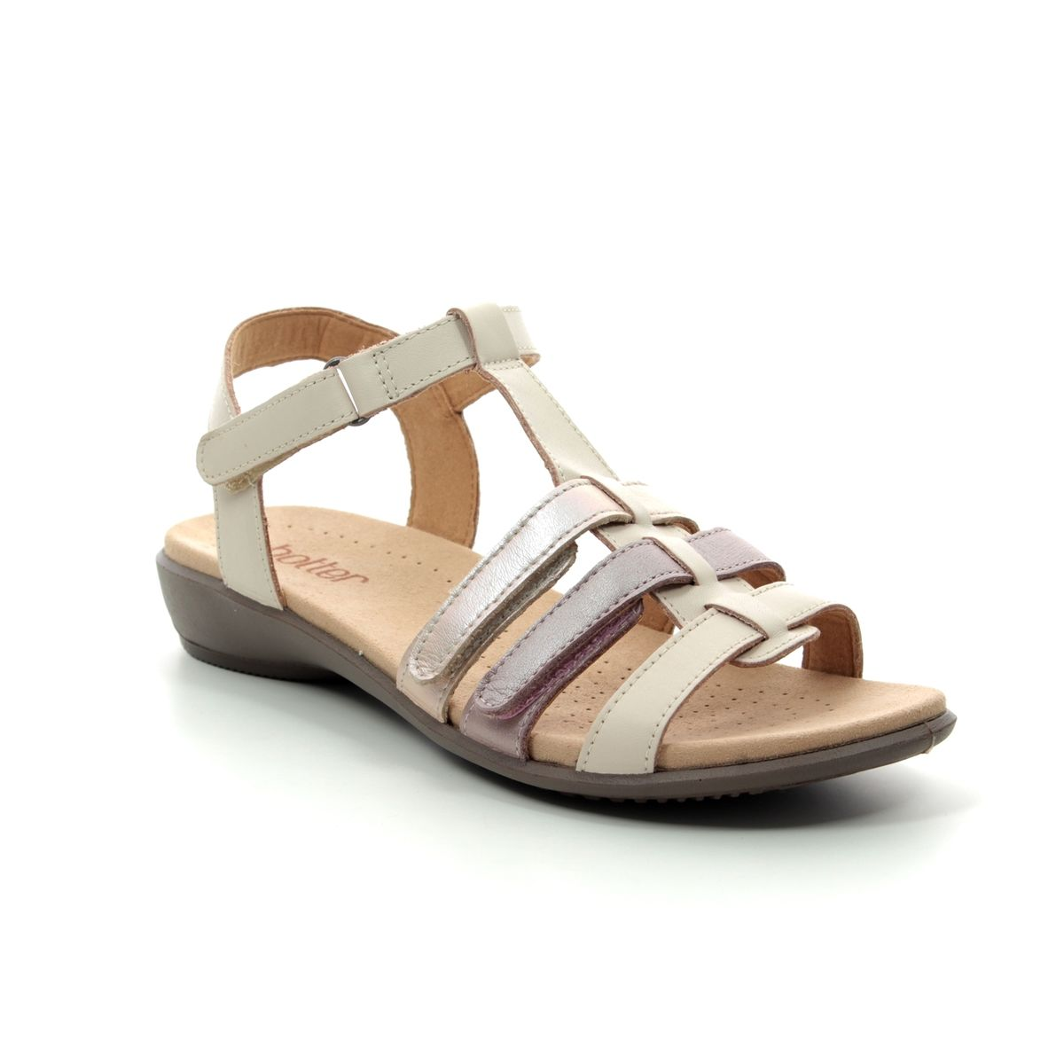 Hotter Sol E Fit 9104-53 Beige leather