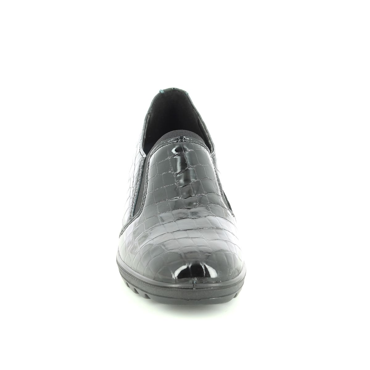8166b479475c IMAC Wedge Shoes - Black croc - 8430 4160011 ROXANA