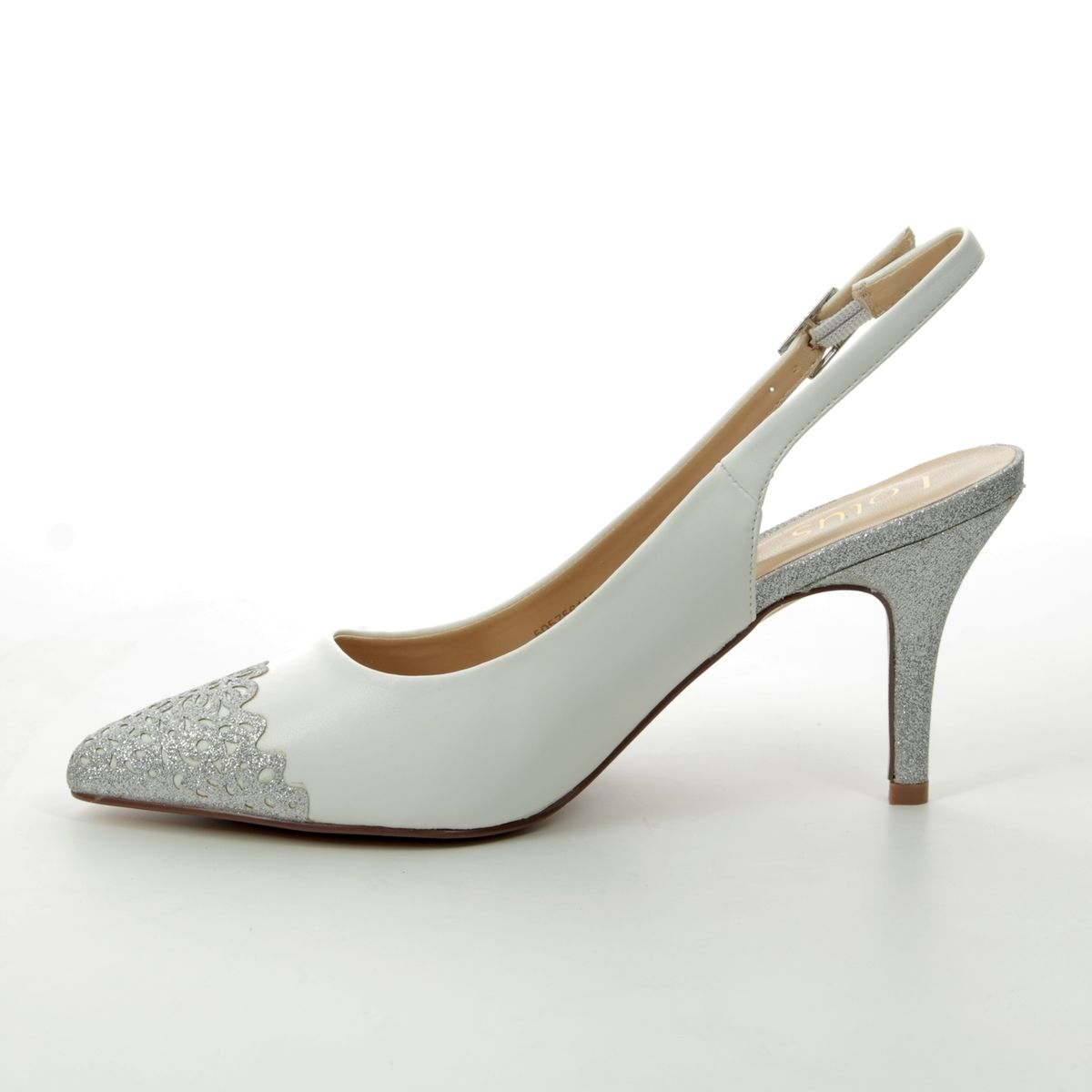 d722311044 Lotus High-heeled Shoes - White multi - ULS078/66 ARLIND