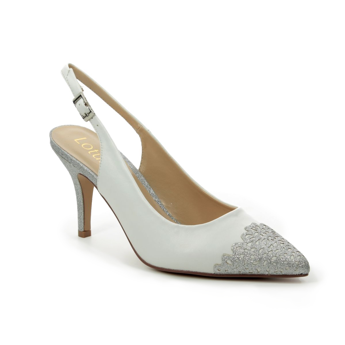 7a5216a16 Lotus High-heeled Shoes - White multi - ULS078/66 ARLIND