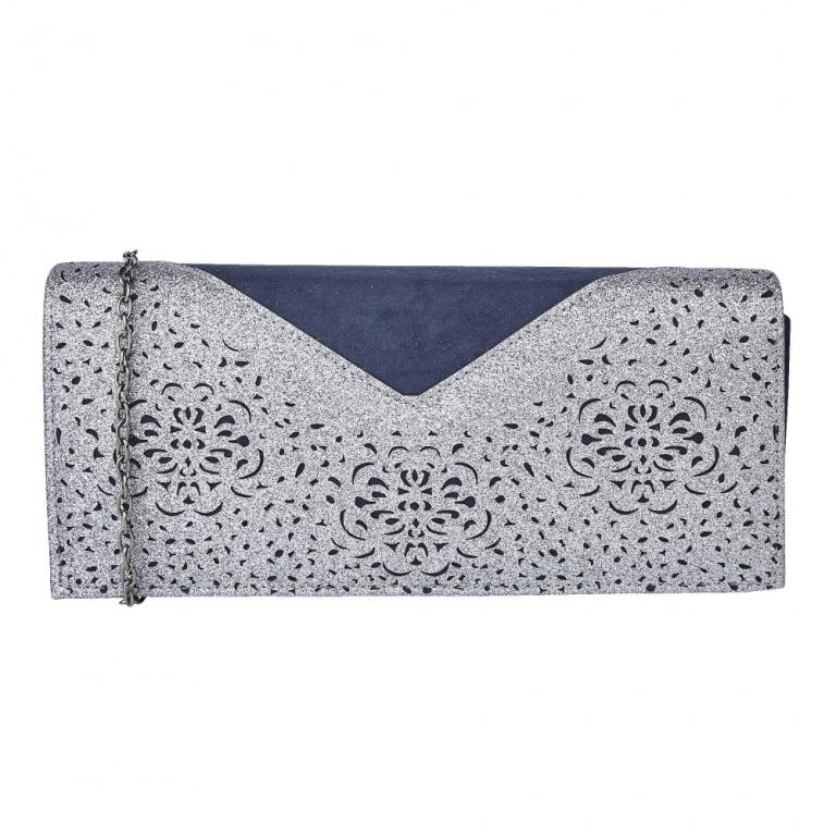 Lotus Matching Handbag Navy Multi 01708 70 Fidda Arlind