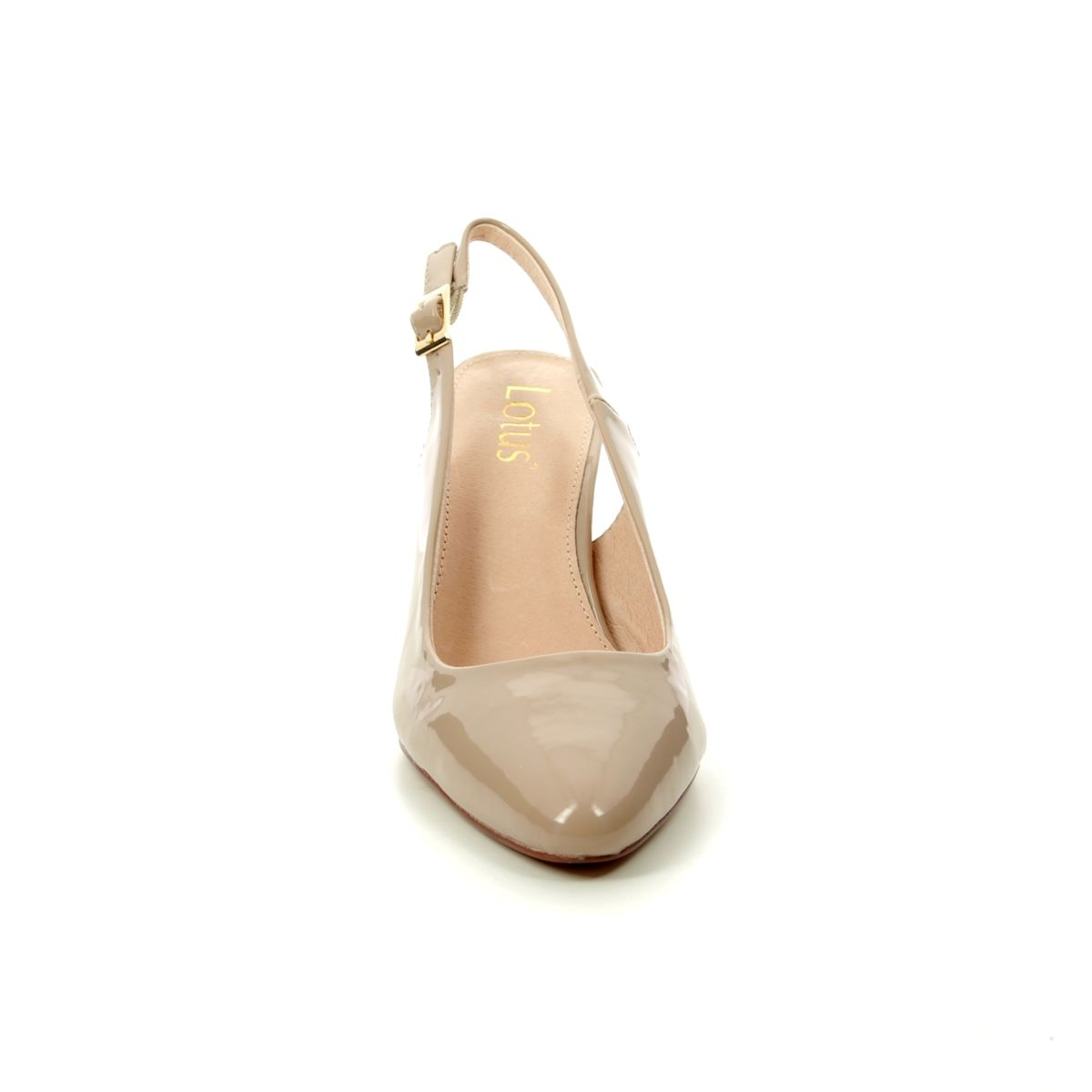 ae9d851629c Lotus Slingback Shoes - Nude Patent - ULS056/56 LIZZIE
