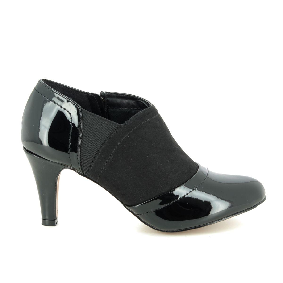 Lotus Skylar Black patent shoe-boots