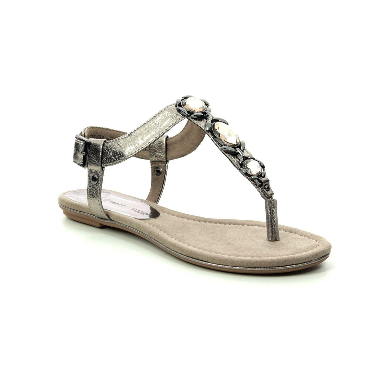 0562b5b50a22 Marco Tozzi Flat Sandals - Pewter - 28143 22 915 BIVIO 91