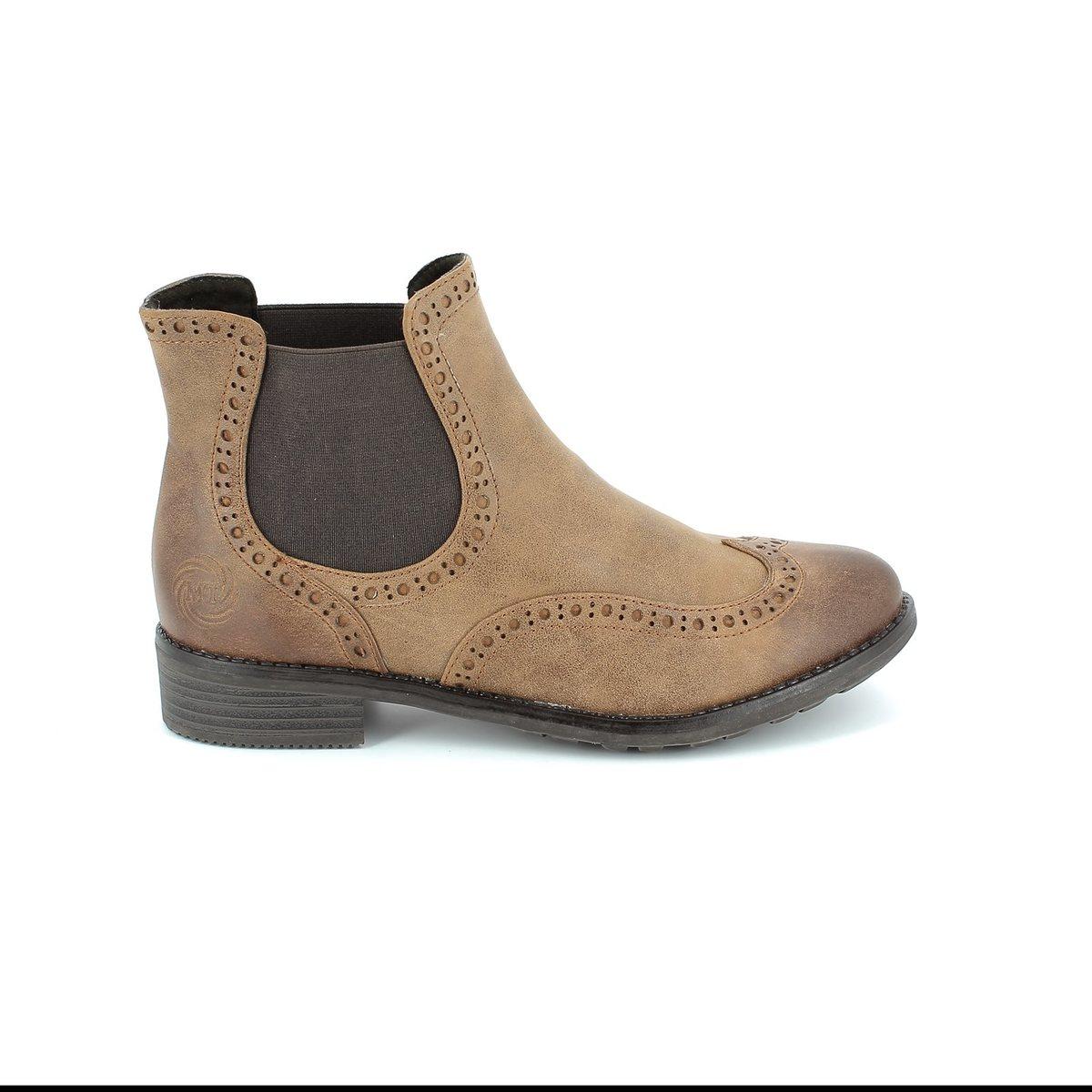 marco tozzi drapbro 25318 340 tan ankle boots. Black Bedroom Furniture Sets. Home Design Ideas