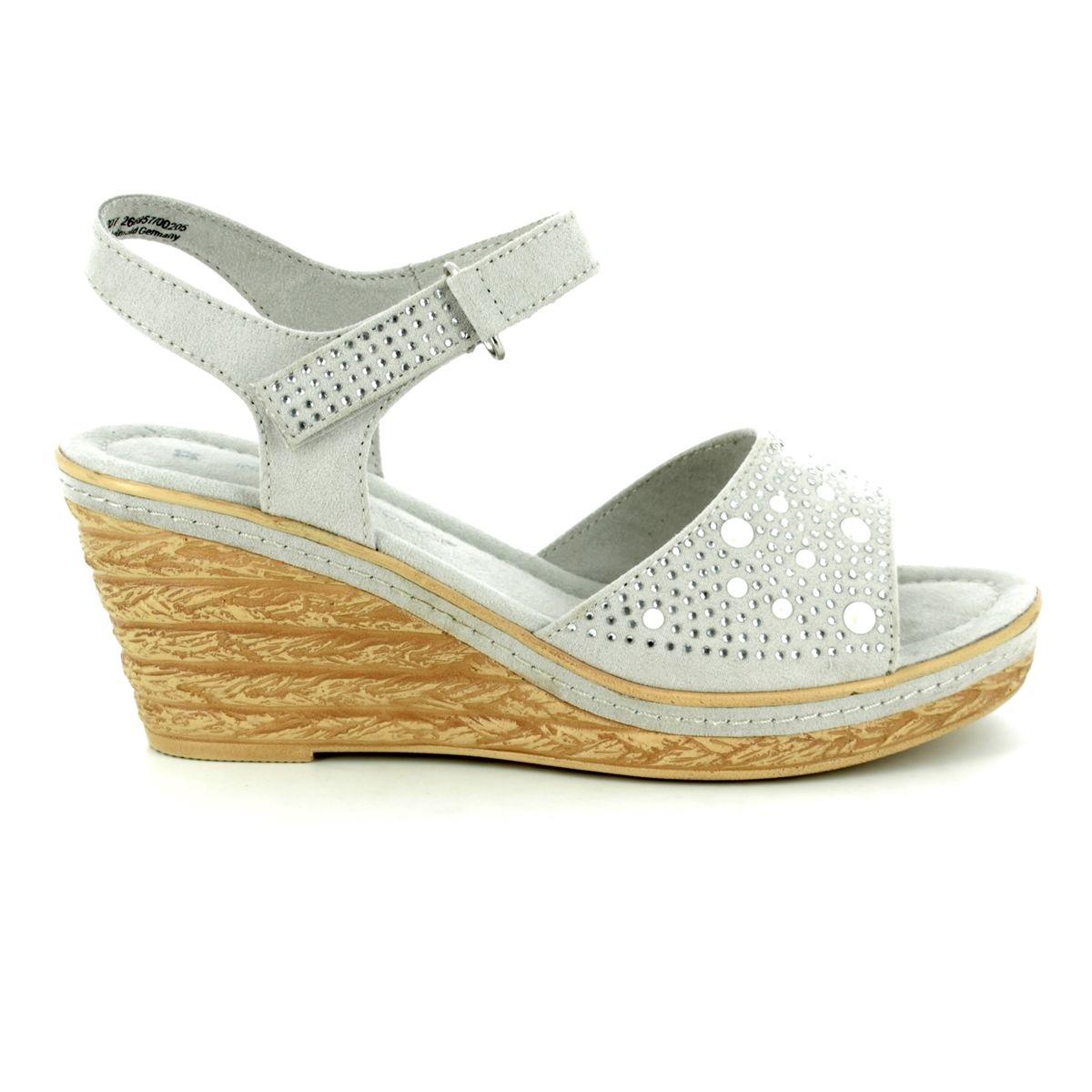 12ec4ce9a7cb Marco Tozzi Wedge Sandals - Light Grey - 28309 20 207 FRETIE