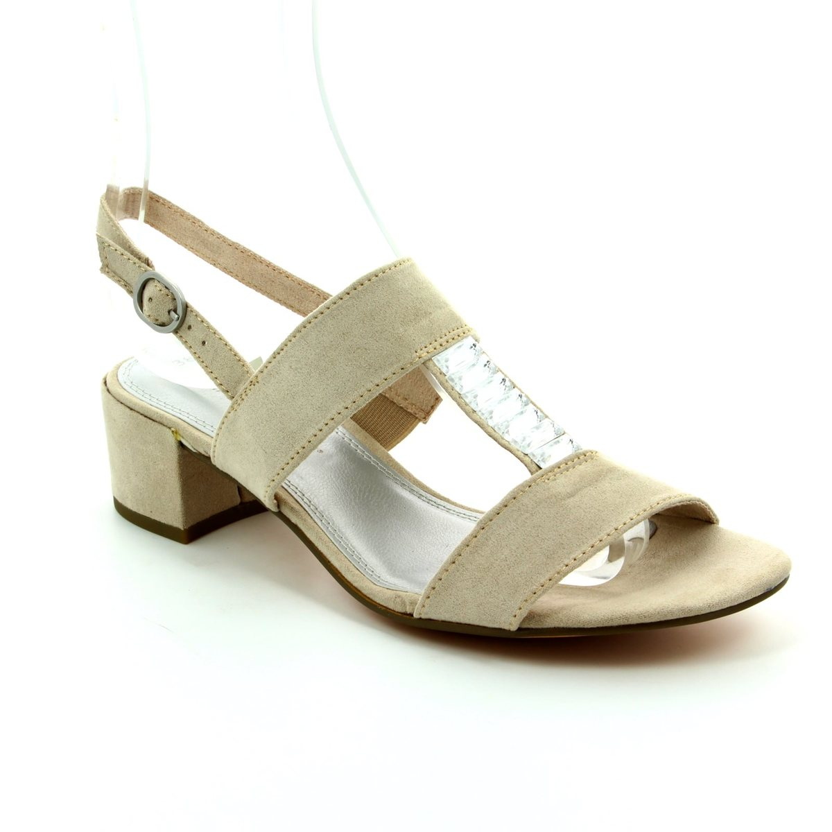 Womens 28202 Sling Back Sandals, Black, 4 UK Marco Tozzi