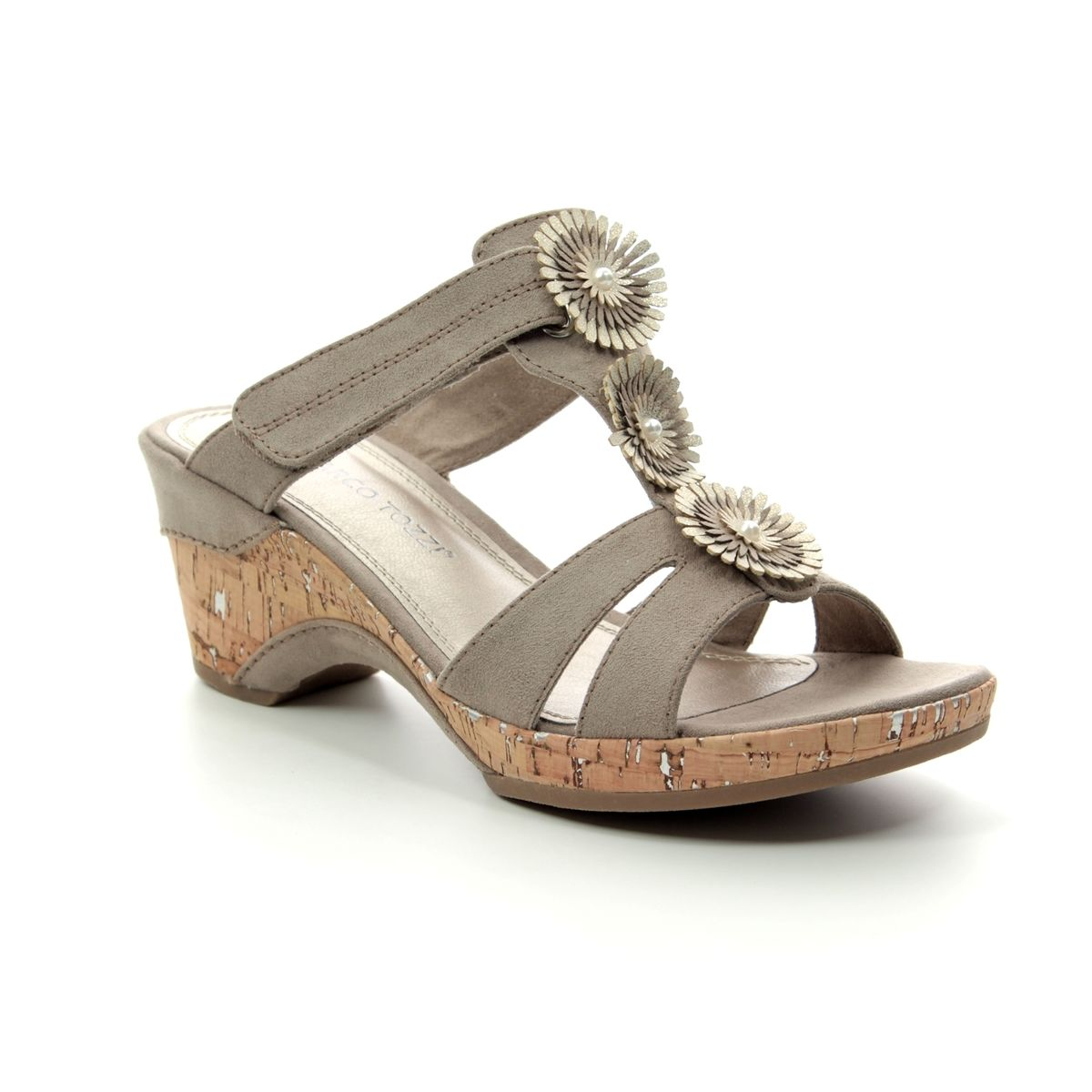 a4432af8e52 Marco Tozzi Wedge Sandals - Taupe - 27213 22 344 LOZIM 91