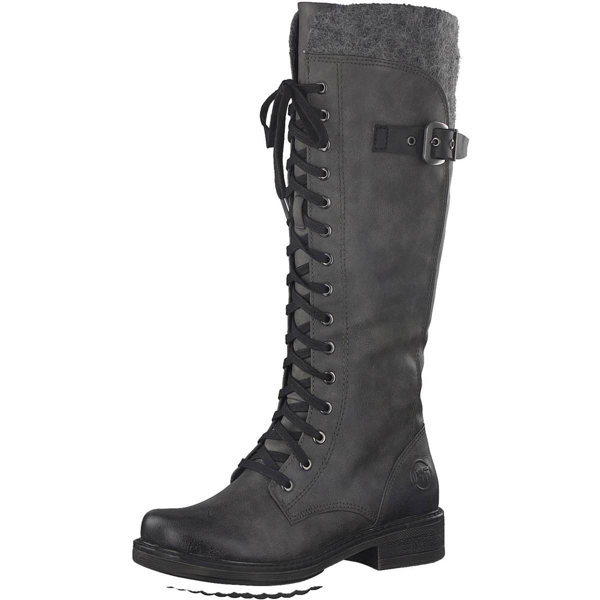 Marco Tozzi Meto Lacetop 26219 21 226 226 226 Dark Grau knee high Stiefel 1543e7