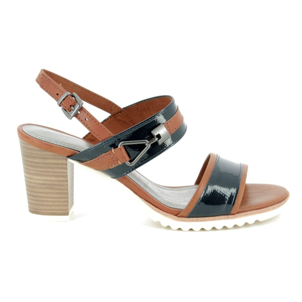 1f963a8d309 Marco Tozzi Heeled Sandals - Navy-tan combi - 28704 20 847 PADUMI