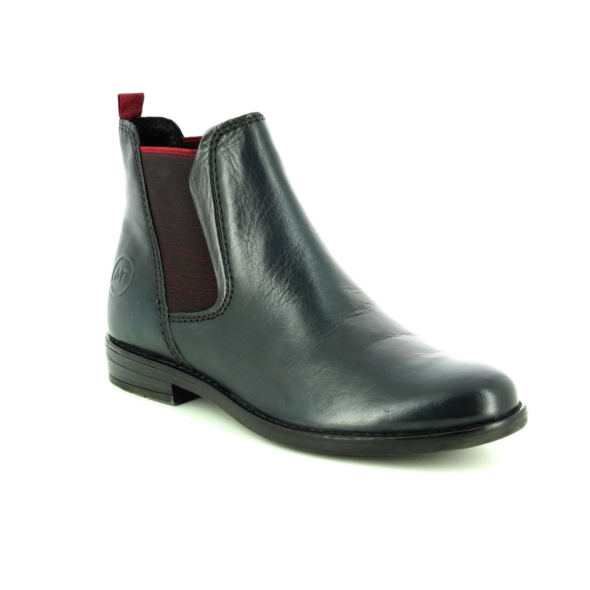 5378a2cb55d521 Marco Tozzi Chelsea Boots - Navy leather - 25366 31 892 RAPALL CHELSEA