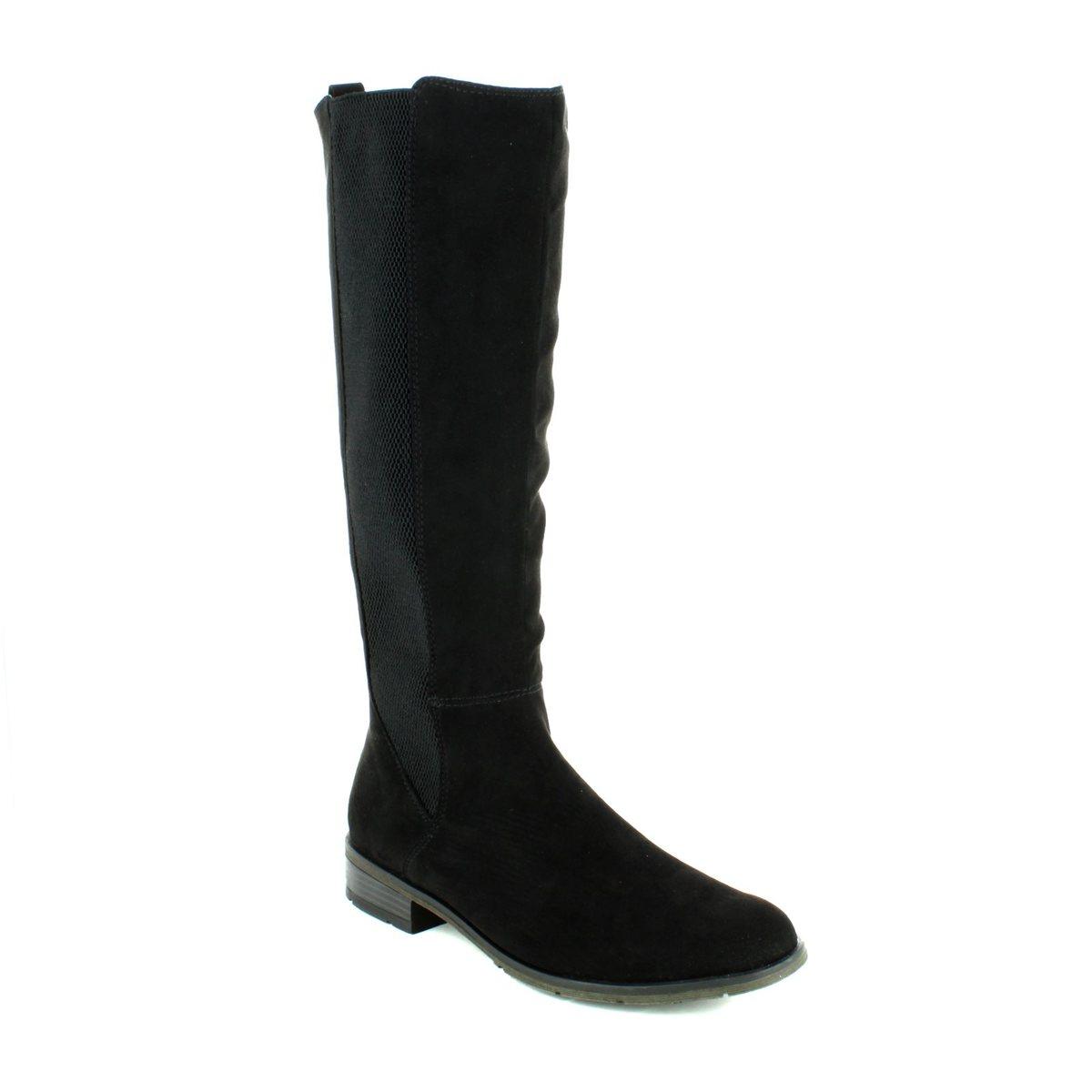 fb06efdb4ea Marco Tozzi Knee-high Boots - Black suede - 25528 001 RAPALONG