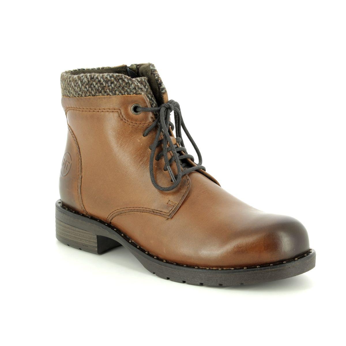 5ac3d94c3230 Marco Tozzi Ankle Boots - Tan Leather - 25203/21/372 VENEZIA