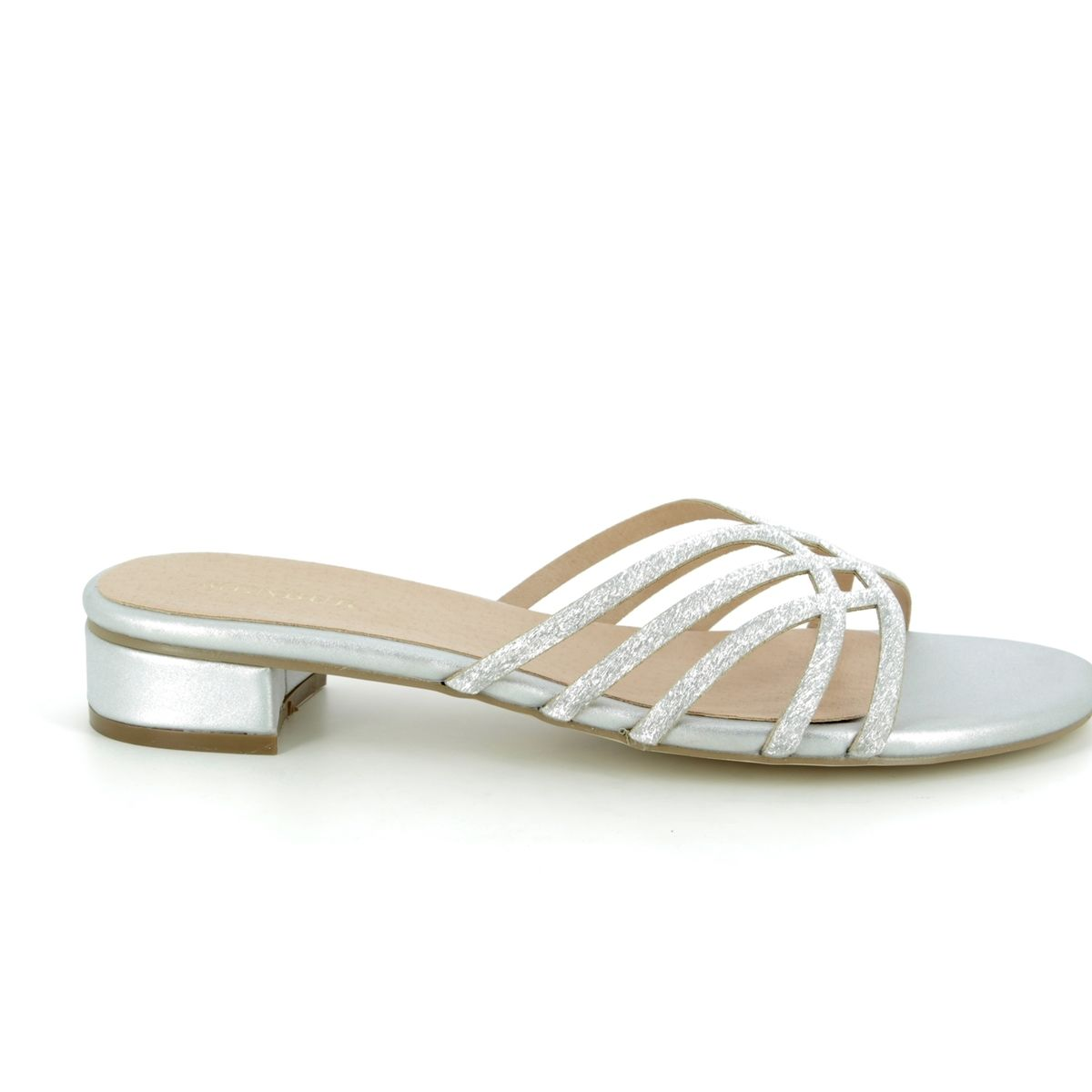 d6d4eeb70a6 Menbur Slide Sandals - Silver - 20295 09 VERNA