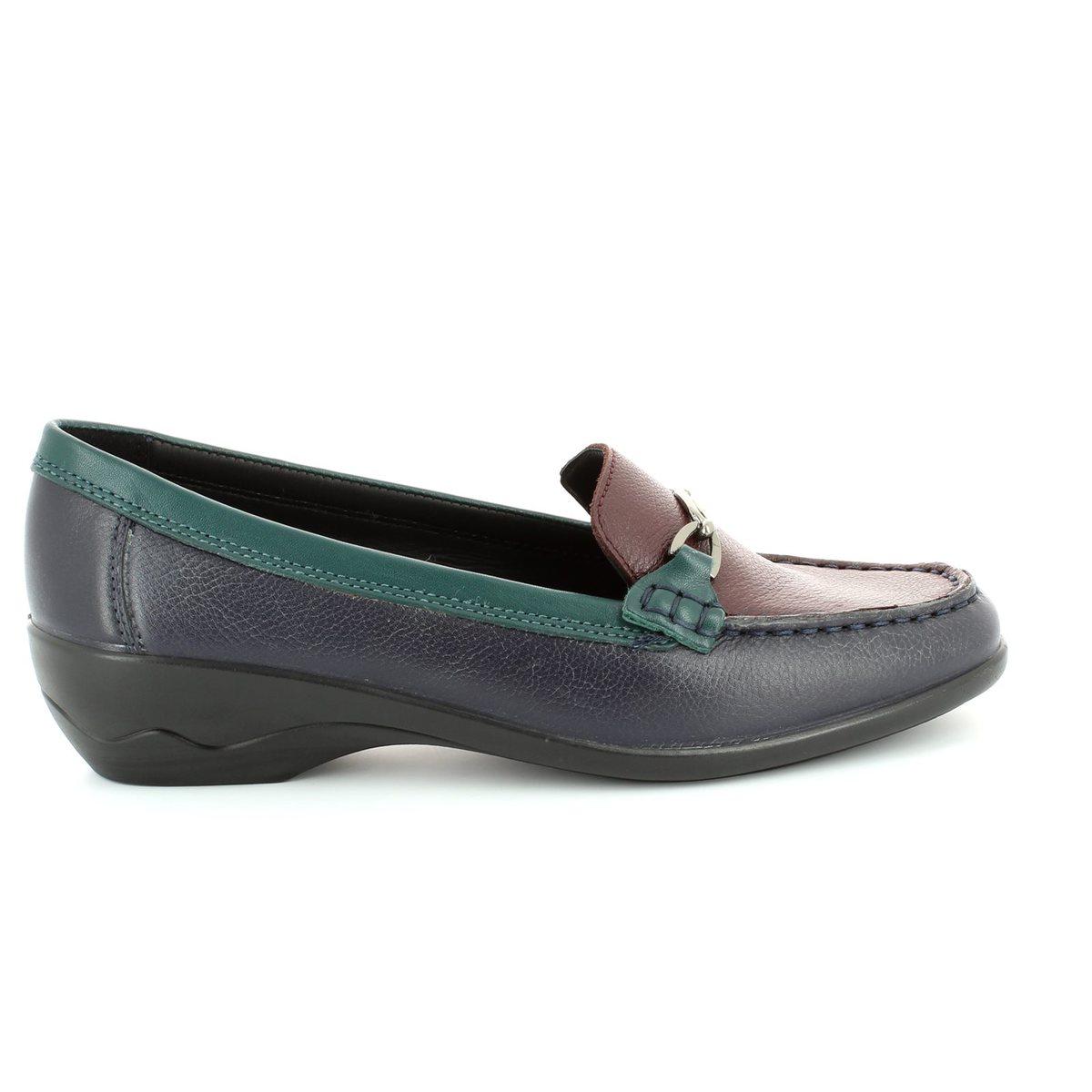 daa01ed3bee Padders Ellen 2E Fit 279-27 Navy-Green-wine loafers