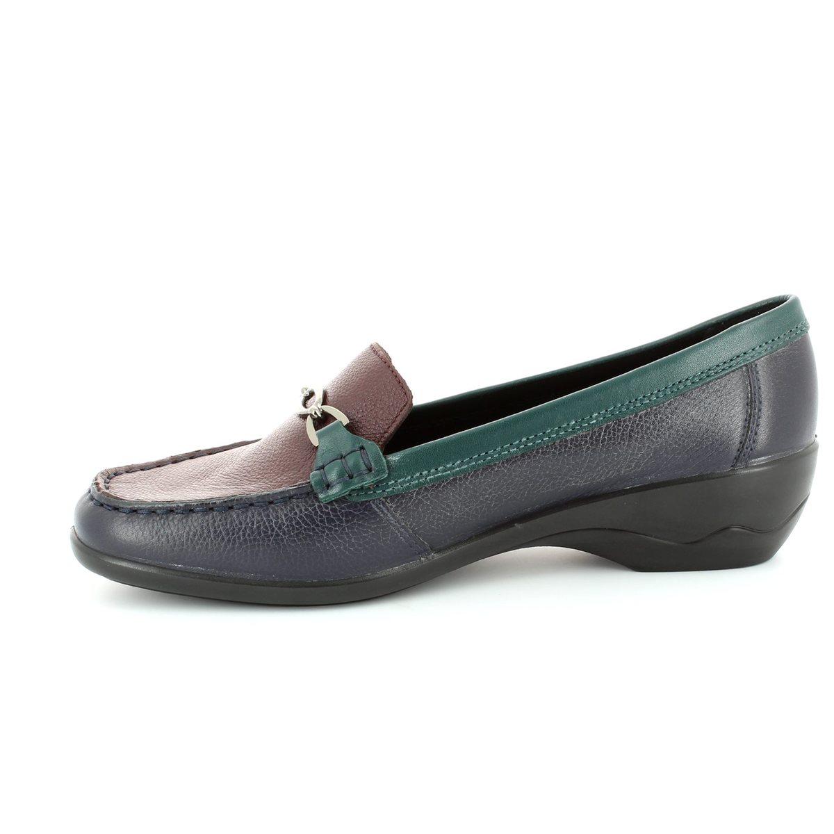 62416d334a1 Padders Ellen 2E Fit 279-27 Navy-Green-wine loafers