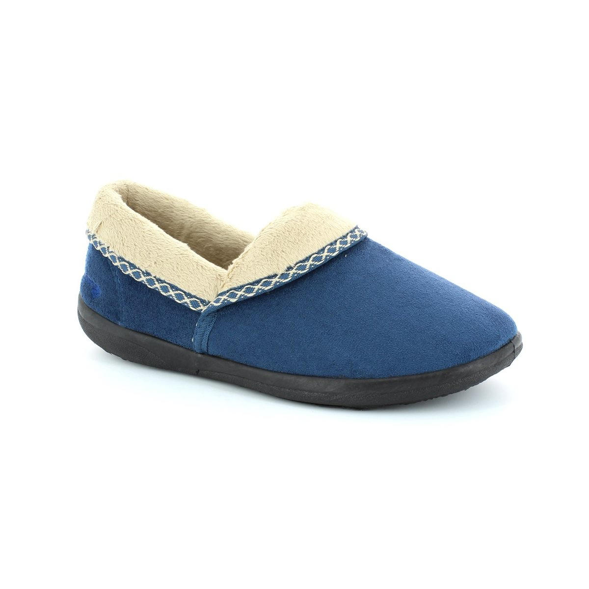 cb3d3ee1d29f7 Padders Slippers - Blue - 460/29 MELLOW 2E FIT