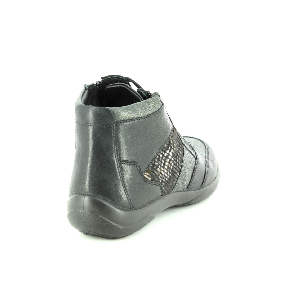 6f3ac66251a Padders Ankle Boots - Black leather - 0875 38 PICCOLO EE-EEE