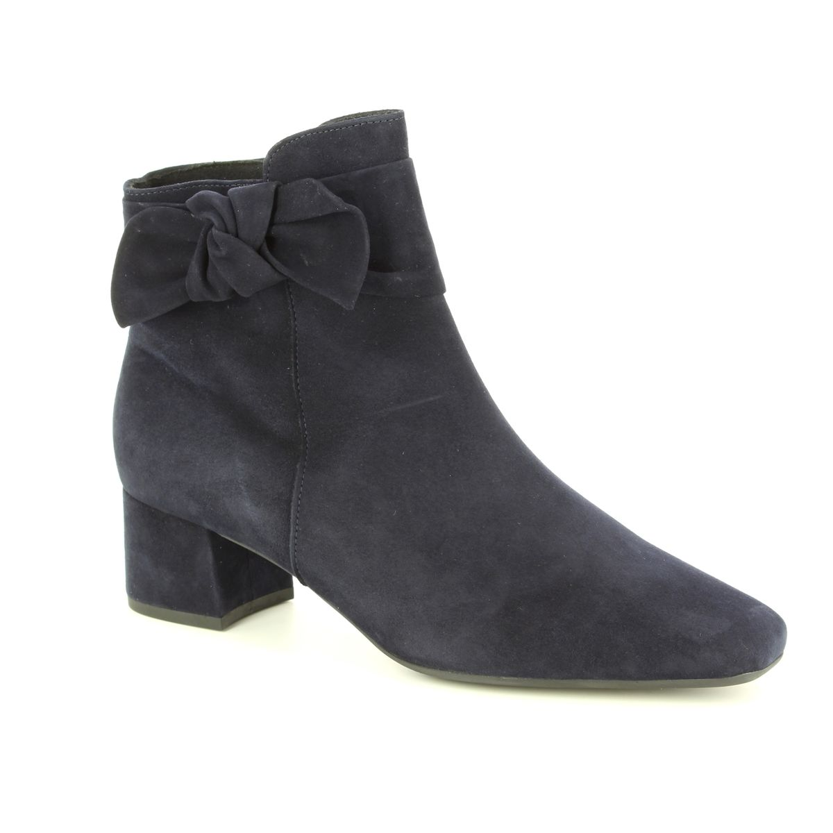 navy suede shoe boots
