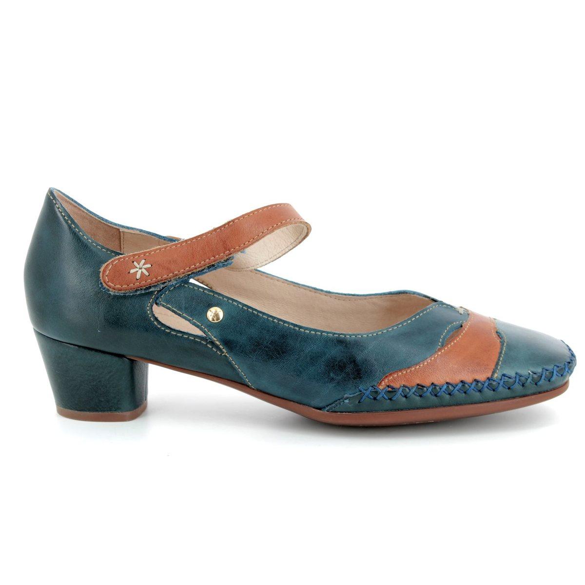 a6d7094984457 Pikolinos Heeled Shoes - Navy-tan - W6R5836/70 GOMERA BAR