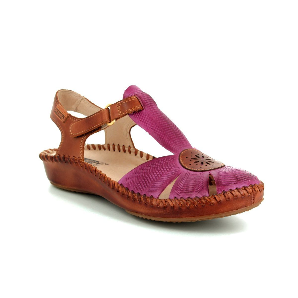 36a993e8b93f3 Pikolinos Closed Toe Sandals - Fuschia - 6550575 95 VALLARIA