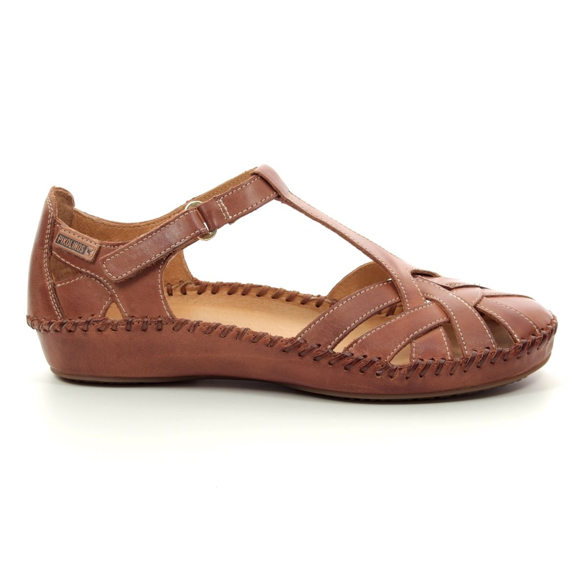 13cfb0ba955c7 Pikolinos Closed Toe Sandals - Tan Leather - 6550732/C1 VALLARTA WEAVE