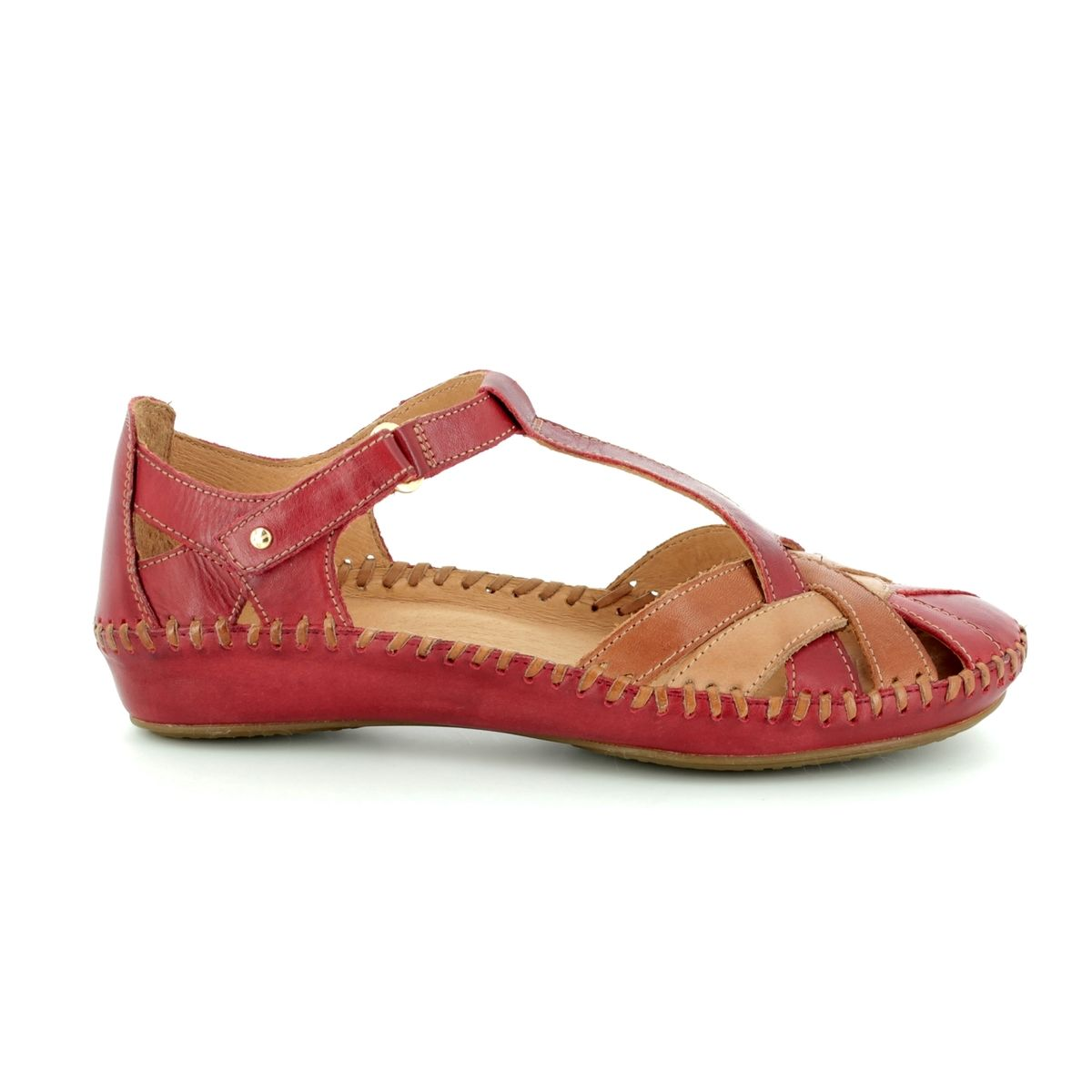 d1d1252d95cfd Pikolinos Closed Toe Sandals - RED TAN - 6550732 C5 VALLARTA WEAVE