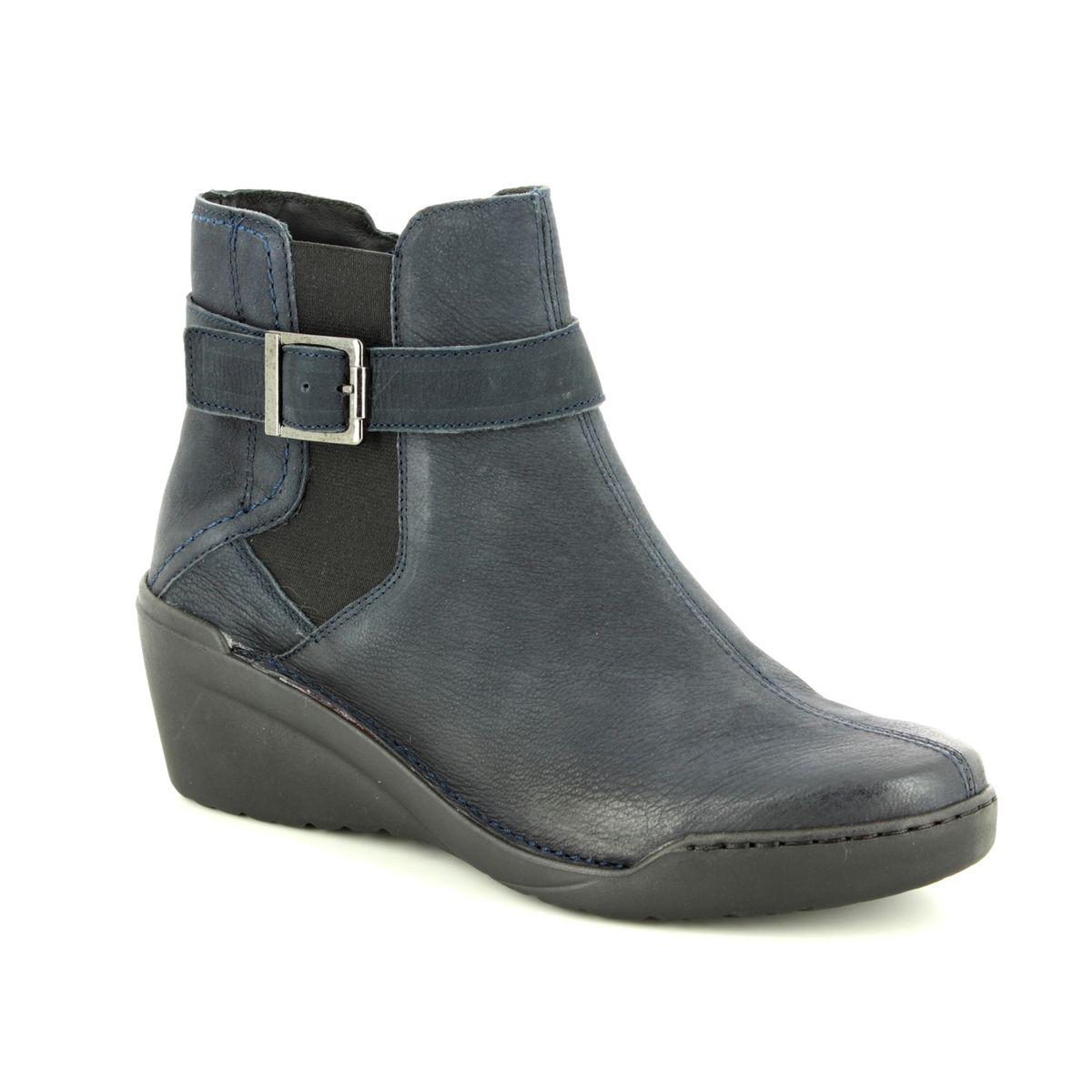 683798dafa9 Relaxshoe Wedge Boots - Navy nubuck - 461005 70 WINGA