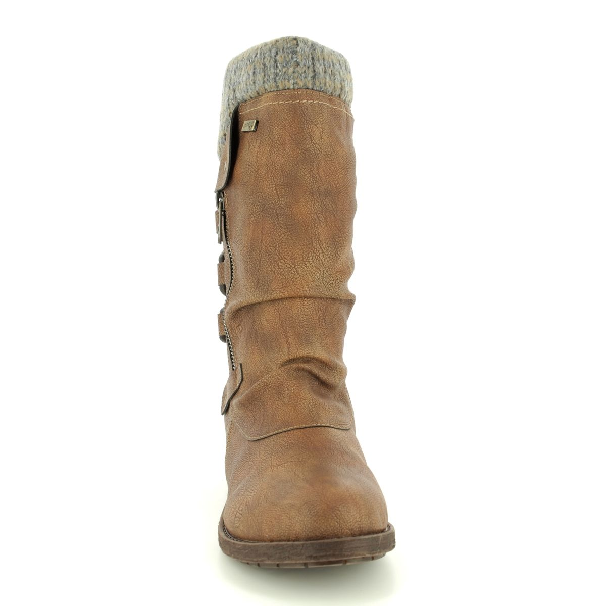 00044a00b8b Remonte Knee-high Boots - Tan - D8070-25 ANDROS TEX