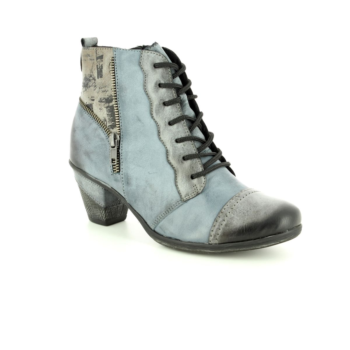0a06683d0888a Remonte Ankle Boots - Black-Grey Multi - D8782-14 ANNITELA