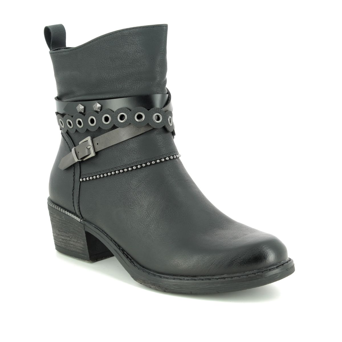 Remonte Bernonte R1171-01 Black ankle boots