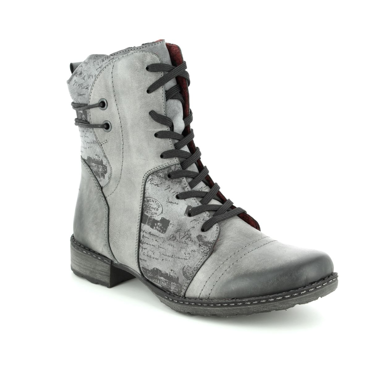 Remonte Ankle Boots - Grey matt leather - D4366-02 PEEMONT 1aeb7ec60