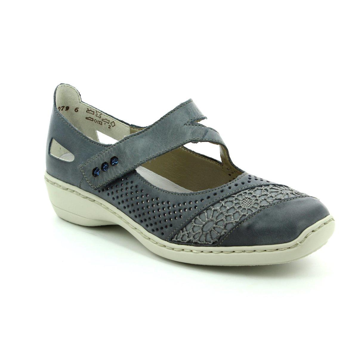 35f0a4cd66b3 Rieker Comfort Shoes - Denim blue - 41346-12 DORISMAC