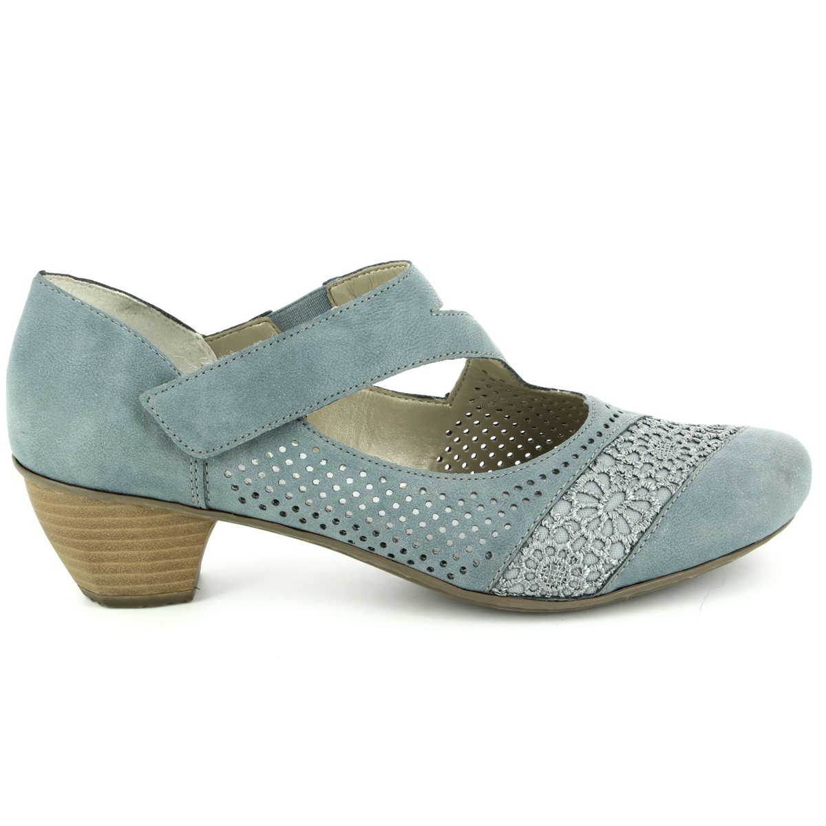 Womens 41743 Closed Toe Heels, Blue, 4 UK Rieker