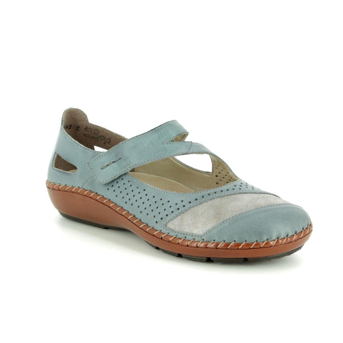 5e95d8da88 Rieker Mary Jane Shoes - Denim blue - 44866-12 CINEMA