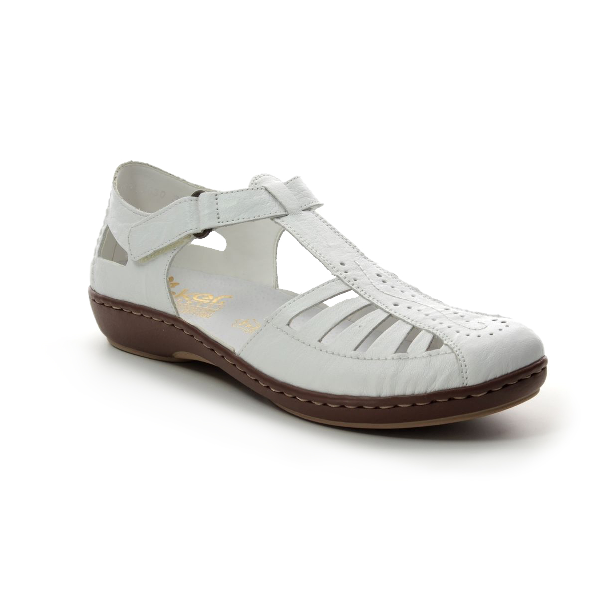 Rieker 45865-80 White Closed Toe Sandals